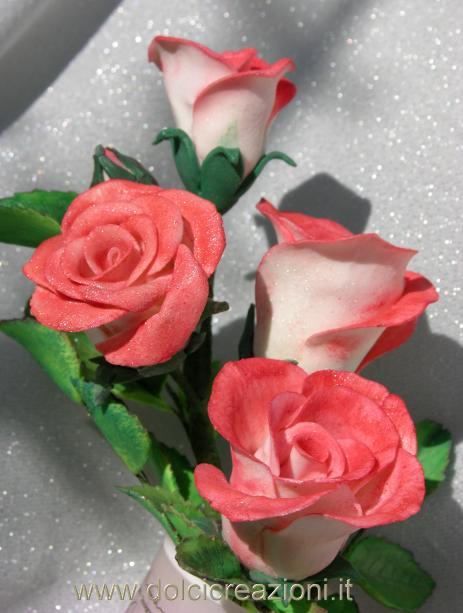 Dolci creazioni by carla rose in pasta di mais cold for Riproduzione rose