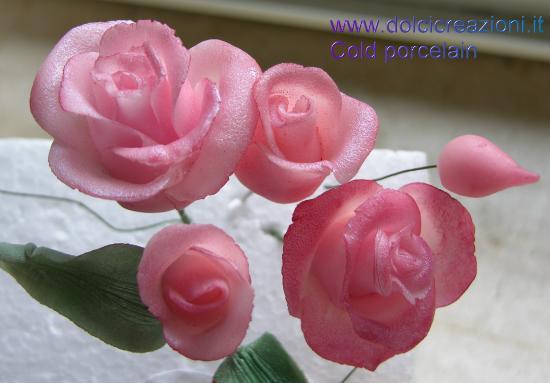 Dolci creazioni by carla cold porcelain flowers for Riproduzione rose