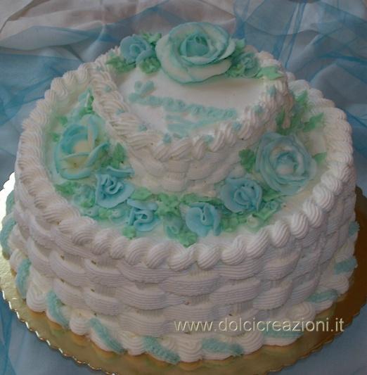 Favoloso Torta per Cresima con rose in crema di burro ER56