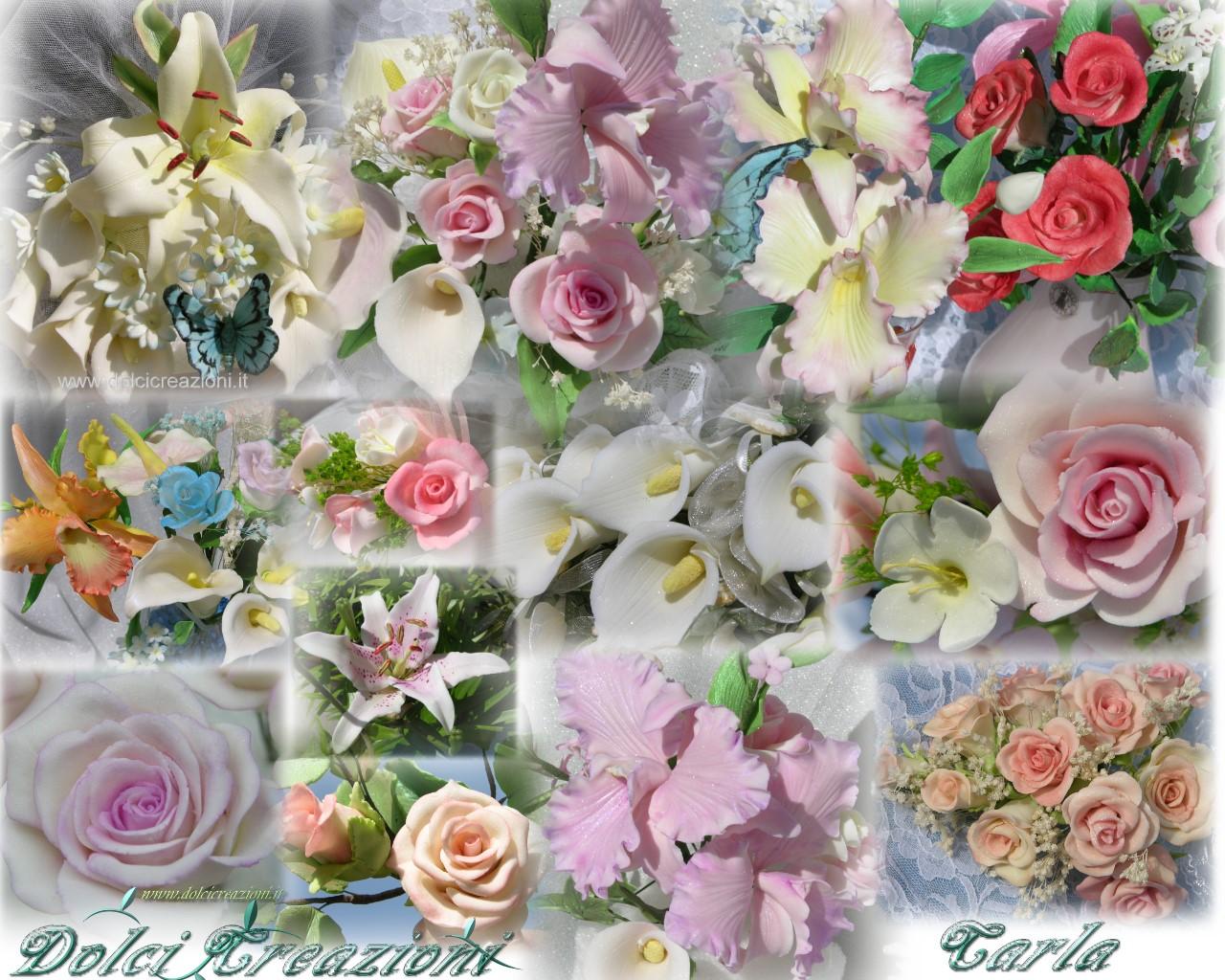 Dolci creazioni di carla torte decorate fiori in pasta for Decorazioni torte vendita