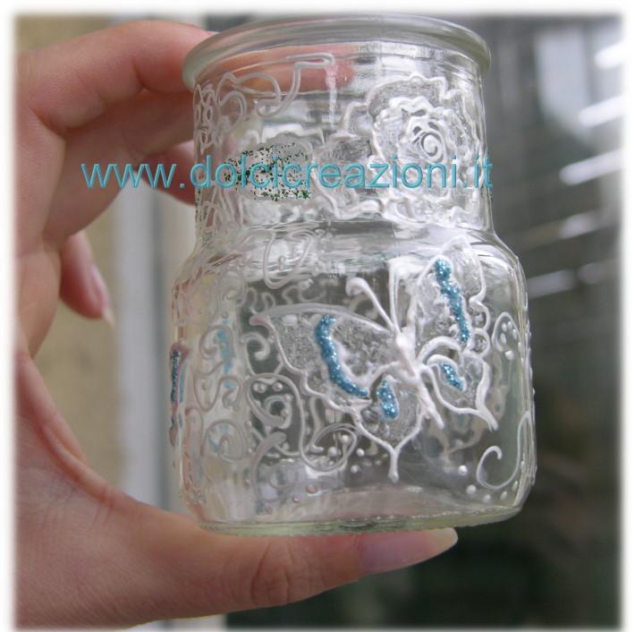 Simple barattoli vetro decorati with barattoli vetro decorati - Barattoli vetro decorati ...
